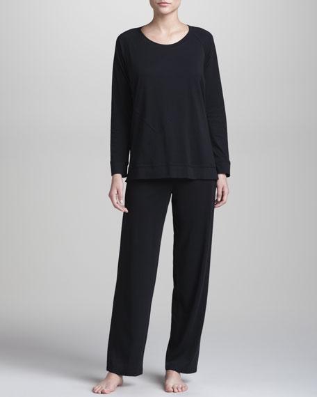 Pima Cotton Pajamas, Black