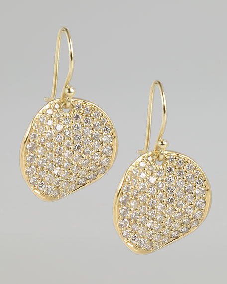 Stardust Stingray Diamond Pave Drop Earrings