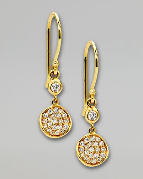 Stardust Flower Small Diamond Drop Earrings