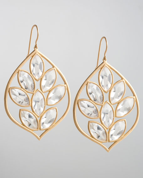 Marquise Topaz Acorn Earrings