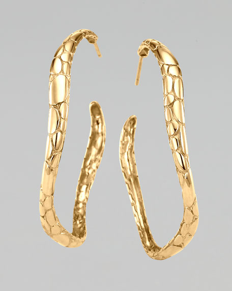 Gold Kali Medium Hoop Earrings