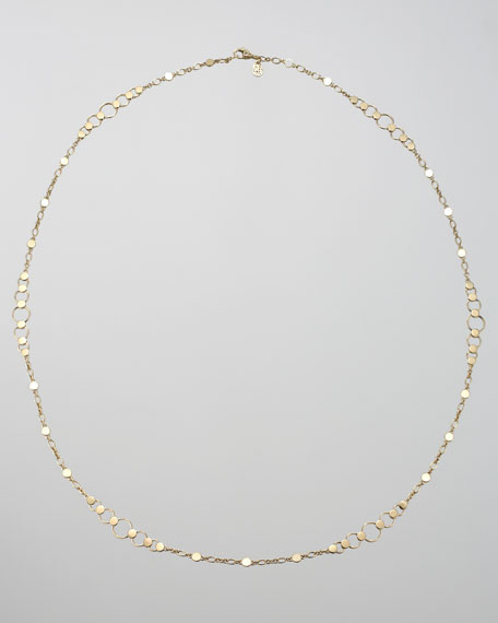 Gold Dot Small-Link Sautoir Necklace, 36""