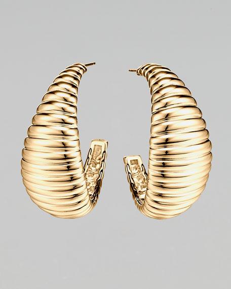 Bedeg Large Wide Hoop Earrings, Gold
