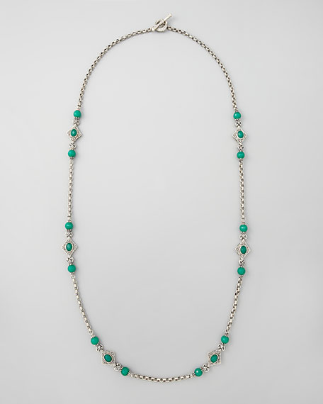 Green Onyx-Station Necklace