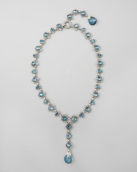 London Blue Topaz Drop Necklace