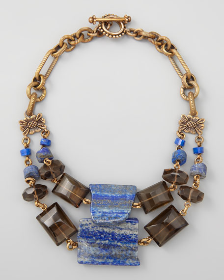 Double-Strand Blue Lapis Necklace
