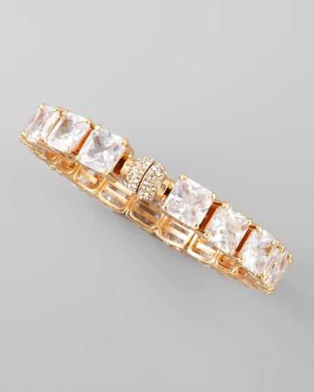 Square Crystal Bracelet, Clear