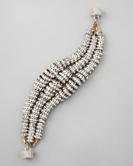 Triple-Strand Crystal Bling Bracelet