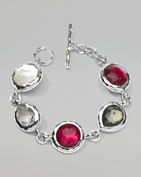 Sterling Silver Wonderland 5-Stone Bracelet, Vino