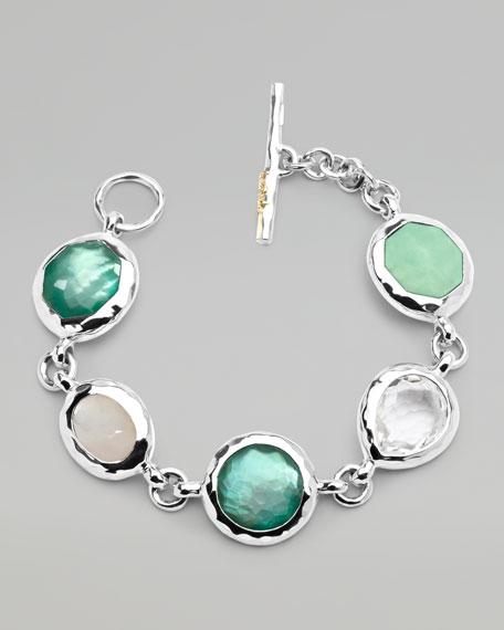 Sterling Silver Wonderland 5-Stone Bracelet, Pistachio