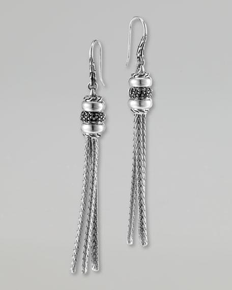 Bedeg Black Sapphire Tassel Earrings