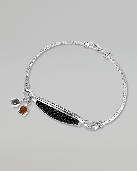 Classic Chain Silver Lava Multi-Stone Bracelet