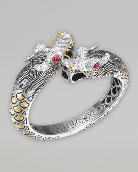Naga Pave Diamond Dragon Cuff