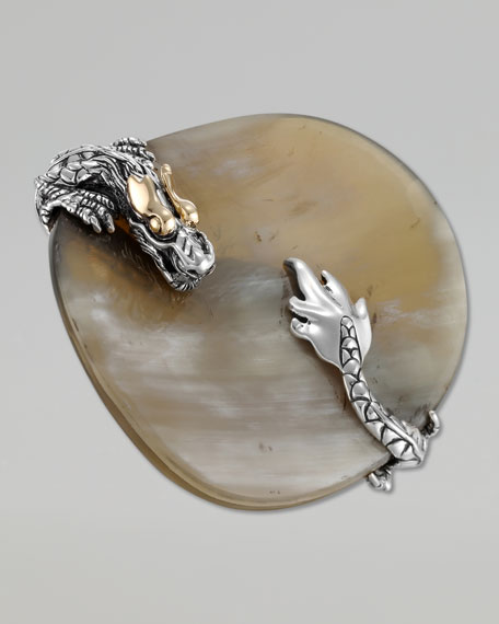 Naga Gold & Silver Buffalo Horn Saddle Ring