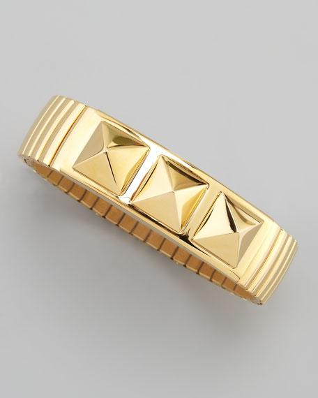 Studded Yellow Golden Watch-Band Bracelet