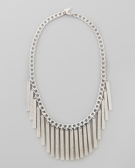 Pave Runway ID Bib Necklace