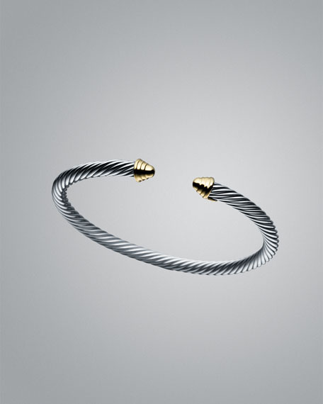 Cable Kids Bracelet with Gold