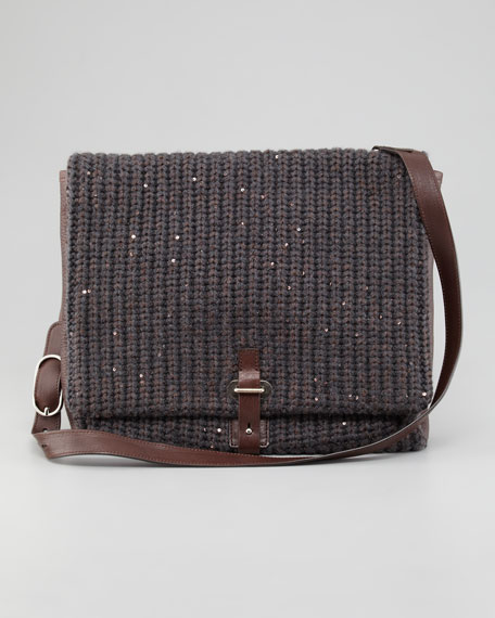 Knitted Messenger Bag, Medium