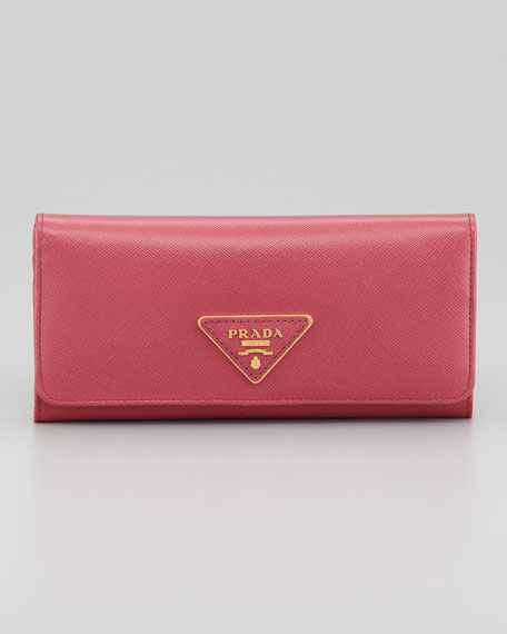 Saffiano Flap Continental Wallet
