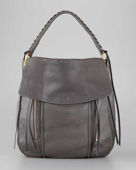 Adrienne Crossbody Hobo Bag, Gray