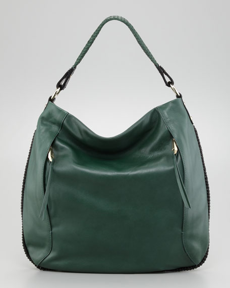Kipton Braided Hobo Bag, Green