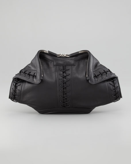 Alexander McQueen De-Manta Corset Clutch Bag
