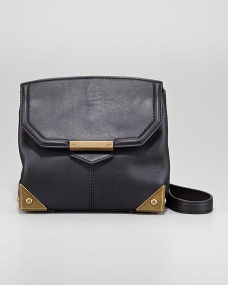 Marion Plated Clutch Bag, Black