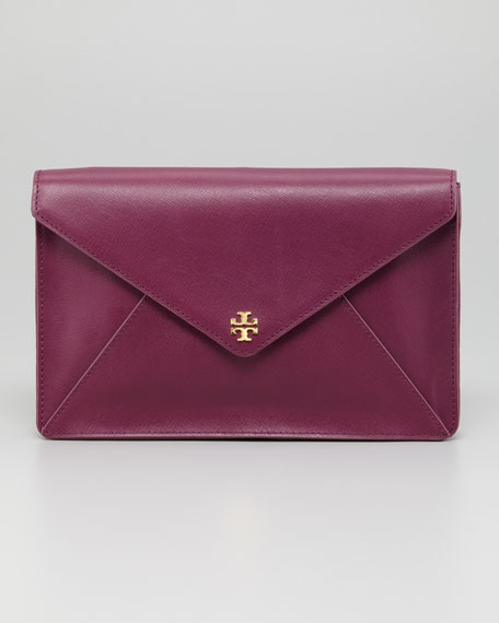 Robinson Large Envelope Clutch Bag, Pretty Violet