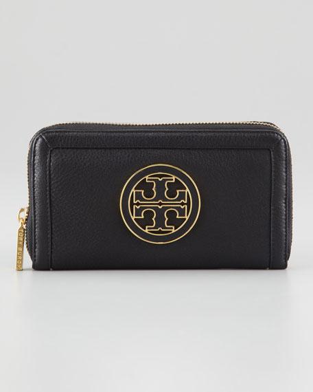 Amanda Zip-Around Continental Wallet, Black
