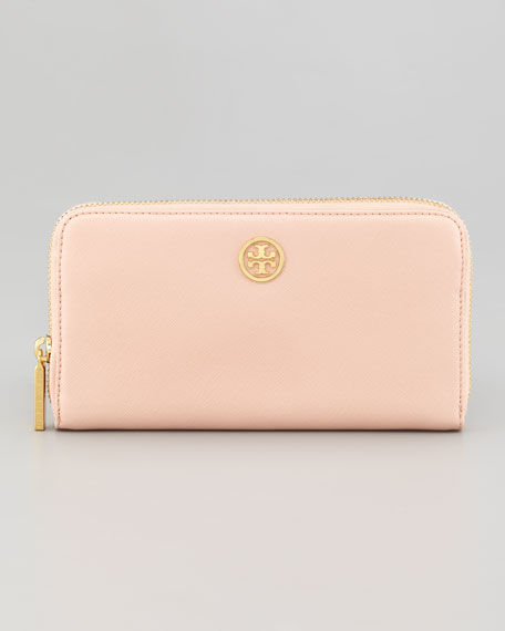 Robinson Continental Zip Wallet, Pink Cloud