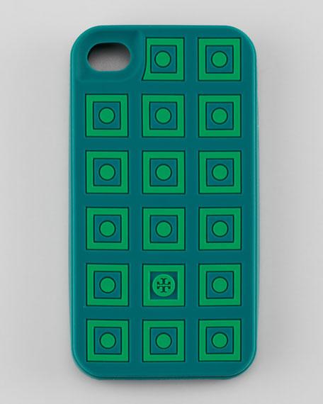 Square Dots Silicone iPhone 4 Case, Malachite/Green