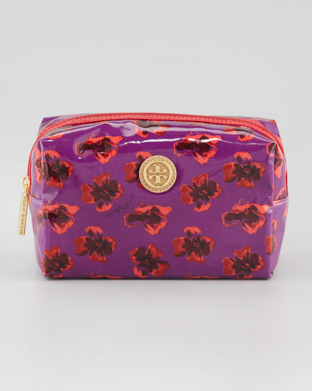 Brigitte Cosmetic Case, Violet Floral