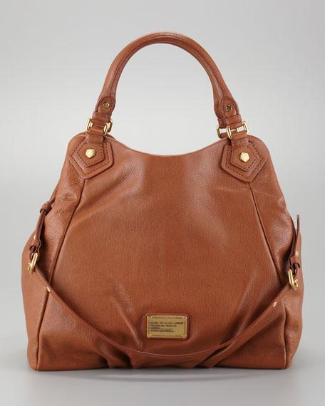 Classic Q Francesca Calfskin Tote Bag, Cinnamon Stick