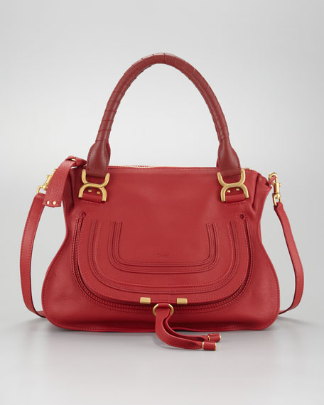 Marcie Medium Shoulder Bag, Hollyberry