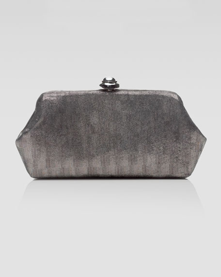 Whitman Textured Leather Clutch Bag