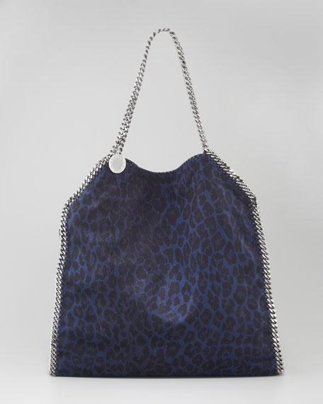Falabella Leopard-Print Fold Over Tote Bag
