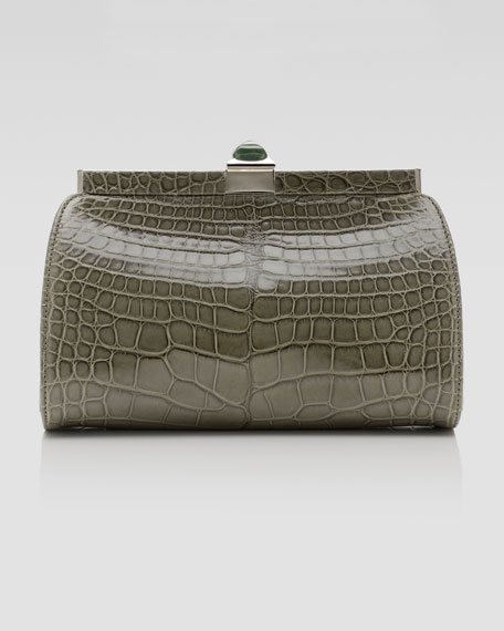 Smith Framed Alligator Clutch Bag