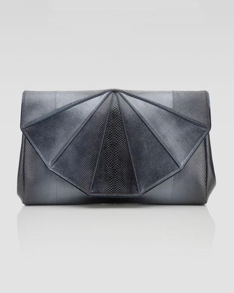 Fannie Origami Snakeskin Clutch Bag