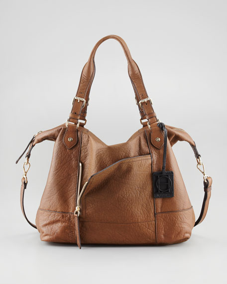 Unzipped Satchel Bag, Brown