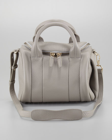 Rockie Small Crossbody Satchel Bag, Oyster