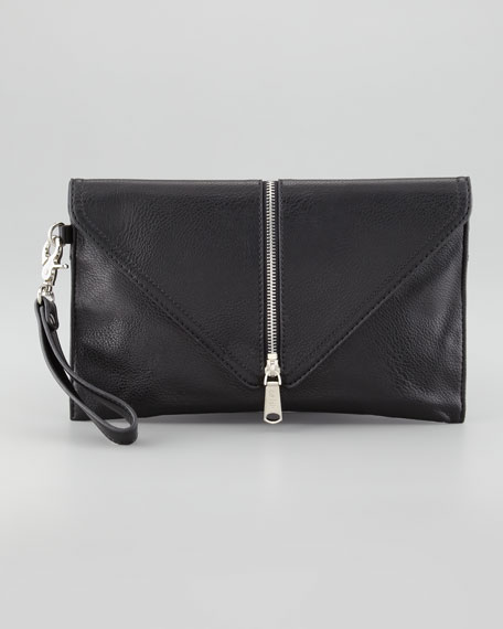 Ryder Zip-Trim Wristlet Bag, Black