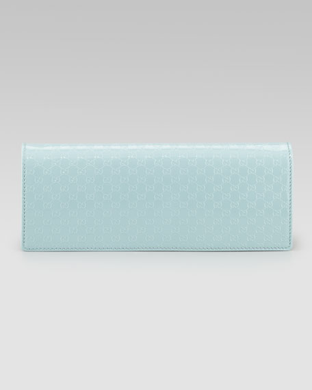 Microguccissima Leather Evening Bag, Light Blue