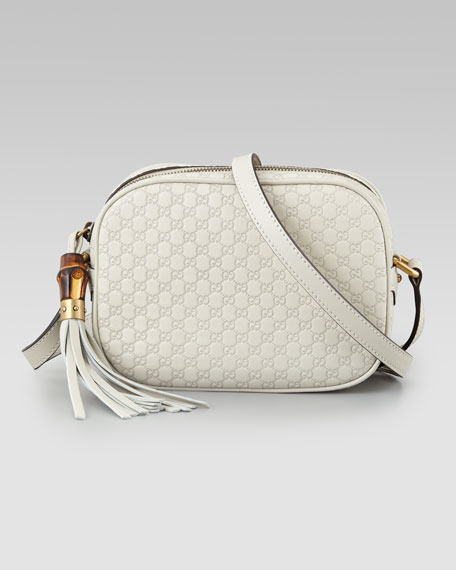 Camera Small Crossbody Disco Bag, Mystic White