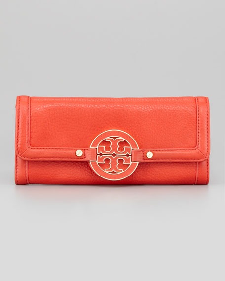 Amanda Continental Wallet, Flame Red
