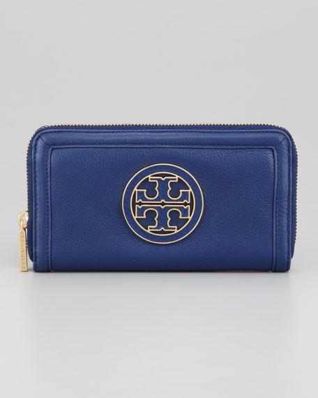 Amanda Zip Continental Wallet, Indigo