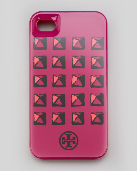 Pyramid Stud iPhone 4/4s Case, Royal Fuchsia
