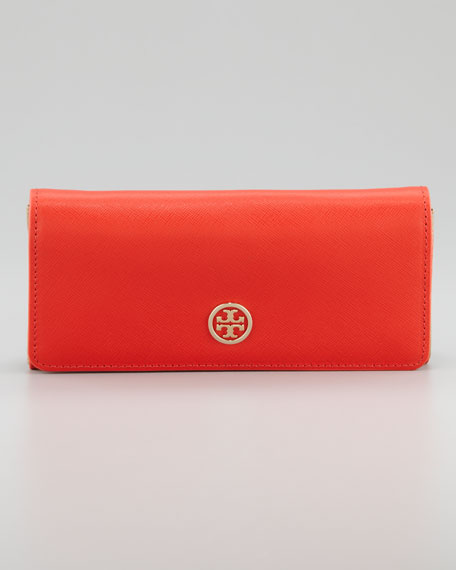Robinson Envelope Continental Wallet, Red/Beige