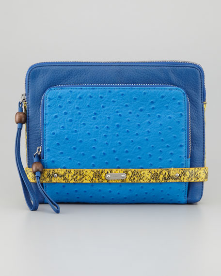 Tina Tech Clutch Bag, Blue Multi