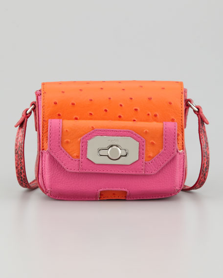 Monique Phone-Pocket Crossbody Bag, Pink