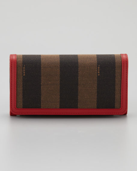 Pequin Flap Organizer Continental Wallet